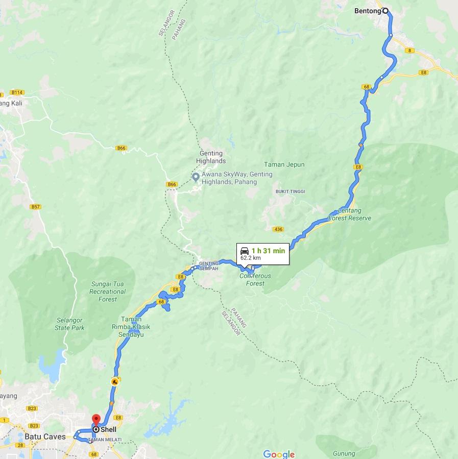 Route 68 Janda Baik