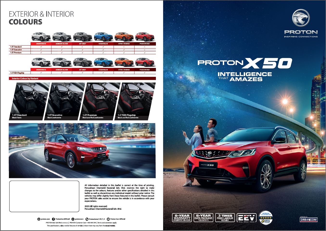 Proton X50 Brochure : 12 things you need to know about all 4 variants